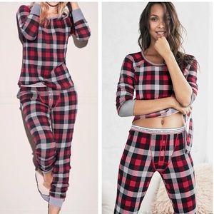 Victoria's Secret Thermal Plaid 2-Piece Pajama Set